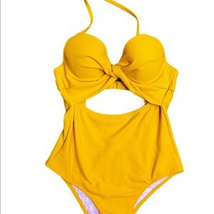 Shade & Shadow Yellow One Piece Bathing Suit
